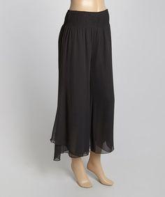 Look at this #zulilyfind! Black Gaucho Pants #zulilyfinds