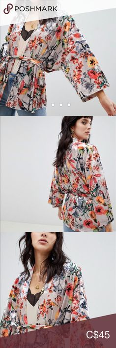 I just added this listing on Poshmark: RD & Koko printed velvet kimono. Plus Fashion, Fashion Tips, Fashion Trends, Kimono Top, Bell Sleeve Top, Velvet, Outfits, Shopping, Vintage