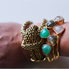 Check out three totally different ways to style your statement cuff.