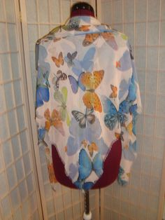 """Beautiful 48"""" Square Semi Sheer Butterfly Design Scarf Shawl Cover Up Wrap #Unbranded #ScarforCoverUp"""