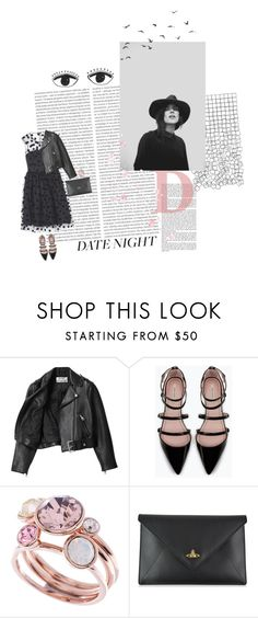 """Hot Date Night Style"" by nocturnalanimal ❤ liked on Polyvore featuring Oris, Dr. Martens, Acne Studios, Zara, Ted Baker, Vivienne Westwood and DateNight"