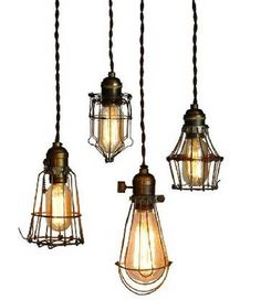 The Steampunk Home: Wire Cage Lights