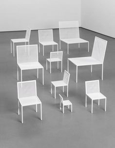 NENDO Group of ten 'Mimicry Chairs', from the unique Red Room installation, commissioned by the London Design Festival, 2012 [Estimate £6,000 - 8,000 ]