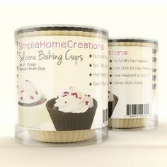 reusable nonstick silicone baking cups for cupcakes & muffins