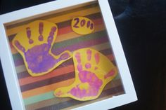 Making Handprint Art Mother's Day Crafts for Toddlers