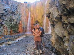 Cascada de colores, La Palma, Islas Canarias