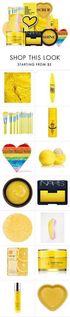 """""""WWW LOVE YELLOW BEAUTY"""" by www-whatwomenwan1 ❤ liked on Polyvore featuring beauty, Maybelline, Dr. Paw Paw, Edie Parker, Eos, de Mamiel, NARS Cosmetics, Essie, Tangle Teezer and Forever 21"""