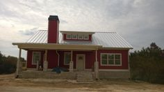 standing seam silver galvalume roof red farmhouse