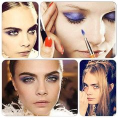 Backstage #beauty on Cara Delevingne for #jasonwu Fall 2013 #NYFW! Using @LancomeUSA