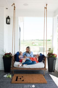Beautiful DIY Farm-Inspired Porch Swing | How Does She