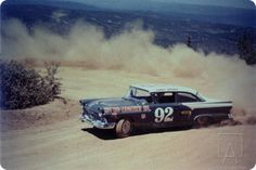 Jerry Unser's Ford Fairlane at the 1957 Pikes Peak International Hill Climb.