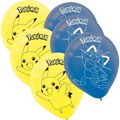 Pokemon, Ilmapallot 6 kpl   KidsPartyStore.fi