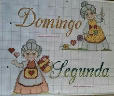 Cross Stitch Kitchen, Cross Stitch Baby, Calligraphy For Beginners, Stitch 2, Needlework, Diy And Crafts, Patches, Embroidery, Comics