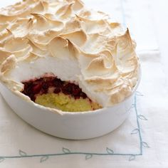 Cranberry Queen of Puddings. Really worth making. If you like it, what about adding it to your list of holiday desserts