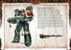 alejandrojohanson:  This is most definitely my favorite part of the Black Legion Codex: Chaos Space Marine Supplement.
