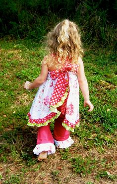 Sophia's Open Back Ruffle Dress Downloadable Sewing Pattern by Create Kids Couture