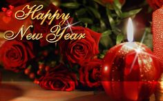 happy new year rose candle night images