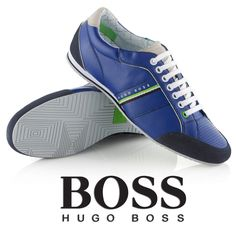 1688688cdf5 MEN S SHOES Hugo Boss Size New UK Victoire La Trainers Green Leather 6 12  Blue