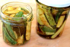 Zucchine marinate alla menta