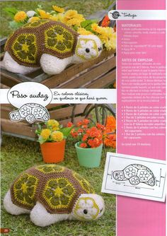 African Flower Turtle - FREE pattern 1/4 (not in English)