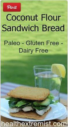 Coconut Flour Bread Recipe - Makes Perfect Sandwich Bread try sub banana/plantain for eggs for aip