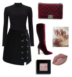 The sexy boot look by queenofstyle96 on Polyvore featuring polyvore, fashion, style, Miss Selfridge, Chicwish, Yves Saint Laurent, Chanel, Bobbi Brown Cosmetics and clothing