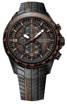 Graham Watch Silverstone RS Endurance Orange #bezel-fixed…