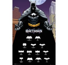 Batman Comics Poster Logos. Hier bei www.closeup.de