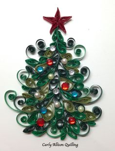 Quilled Christmas Tree Carly Allison Quilling
