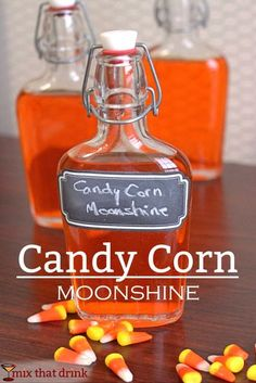 I've had a lot of requests to do a Candy Corn Vodka infusion, similar to Skittles Vodka. But since I also get a lot of questions about doing infusions with other liquors I decided to give moonshine a try. (party drinks alcohol with candy) Party Drinks Alcohol, Alcohol Drink Recipes, Cocktail Drinks, Fun Drinks, Alcoholic Drinks, Bartender Recipes, Liquor Drinks, Tipsy Bartender, Bourbon Drinks