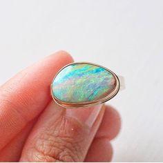 This beauty!!! 🌈 #opal #octoberstone #jjpowerring @newtwiststore