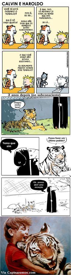 O último pedido do tigre  Calvin e Haroldo