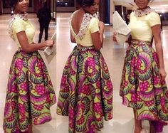 Ruffled Edge Ankara Skirt by Africandressshop on Etsy