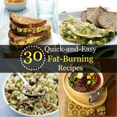 From turkey burgers to banana smoothies, these simple calorie-burning recipes will help you lose weight fast. | Health.com