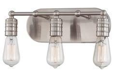 Karen 3-Light Bath Light, Nickel