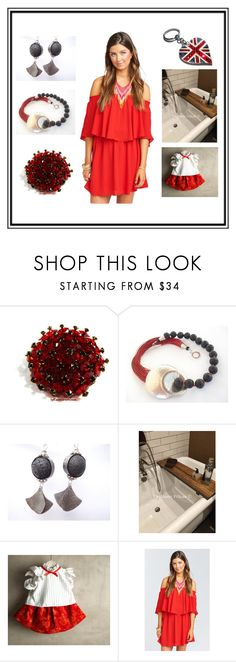 """""""Perfect RED selection"""" by blingauto ❤ liked on Polyvore featuring red, etsy and lavostradolcevita"""