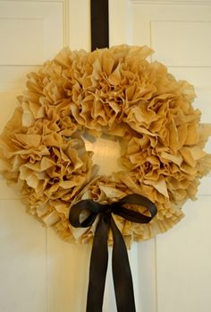 Coffee Filter Wreath for Kitchen Door!