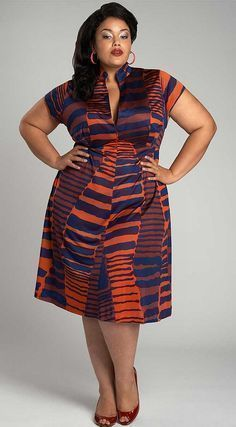 The first ever plus size fashion line to make New York fashion week. african prints in fashion ~African fashion, Ankara, kitenge, African women African Dresses For Women, African Print Dresses, African Attire, African Wear, African Fashion Dresses, African Prints, African Women, Ankara Fashion, African Style