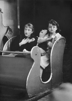 Robert DOISNEAU :: Train Fantome, April 1953