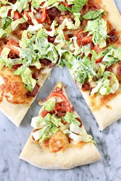 BLT Pizza! Delicious, but use only 1-2 TBSP Mayo, like it suggests, I added another TBSP because I love mayo and it was way too much.