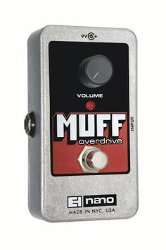 Electro-Harmonix Nano Muff Overdrive Pedal by Electro-Harmonix. $47.40. Reissue of the original 1969 Muff Fuzz. Crank up your amp and dial back the guitar volume and you have the perfect rhythm overdrive. Adds just a touch of funky dirt with an edge.. Save 25%!