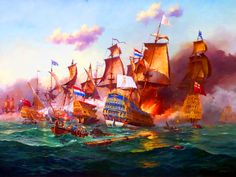 The Battle of Barfleur, 19 May 1692 Anglo Dutch Wars, Ship Of The Line, Tall Ships, Paladin, 17th Century, Marines, Sailing Ships, Holland, Vintage Paintings