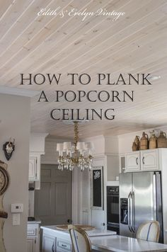 How to Plank a Popcorn Ceiling | Hometalk | If you HATE your ugly popcorn ceiling, you're going to LOVE this!