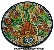 "Talavera Plates Wall Decor - 80504-A2 Talavera 11"" Wall Plate Spanish Design"