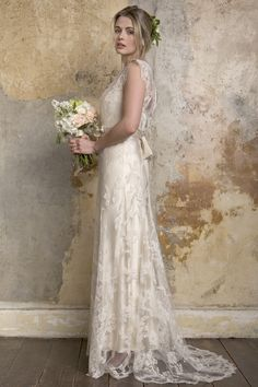 Sally Lacock // Flora French Lace Wedding Dress - 2015 Collection
