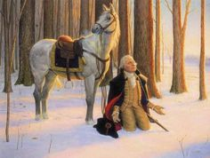 """""""In the Continental Congress somebody wanted to know which one was General George Washington. He was sitting up in the gallery. And a friend said, 'Well, if you want to see which one Washington is, when Congress goes to prayer, he'll be the tall man who gets on his knees.' American Revolutionary War, American Presidents, American Pride, Us Presidents, American History, Early American, American Spirit, Us History, History Pics"""