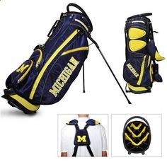 University of Michigan Wolverines Standup Golf Bag - Golf Stand Bag
