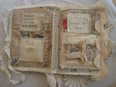 Stitched Textiles and Mixed Media Fabric Journals, Art Journals, Vintage Journals, Fabric Books, Journal Covers, Book Journal, Journal Ideas, English Romantic, Needle Book