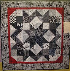 idea for finished black & white quilt top