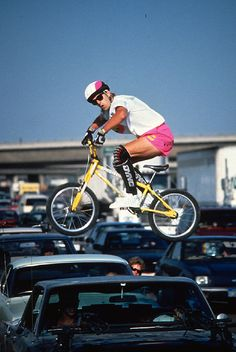 Bob Allen photo of Hans Rey that helped him get inducted into the mountain bike hall of fame.